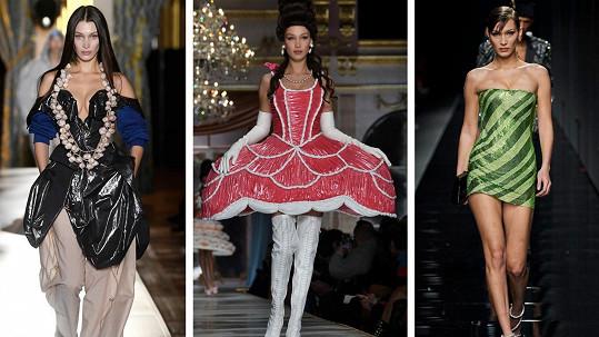 Bella Hadid letos bodovala na řadě módních přehlídek.