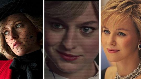 Tyto herečky se proměnily v princeznu Dianu.
