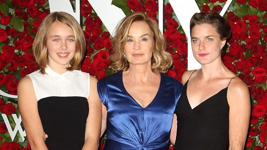 Jessica Lange ukázala dceru a vnučku.