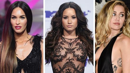 Tyto slavné ženy se nebojí experimentovat.