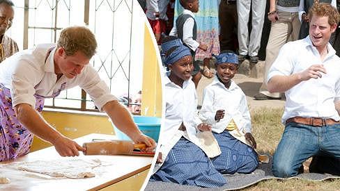 Princ Harry se ukázal jako zdatný tanečník i pekař.
