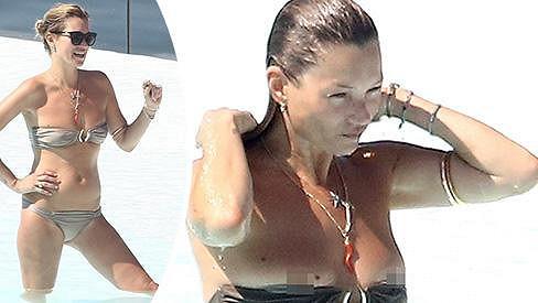 Kate Moss se nechtěně odhalila.