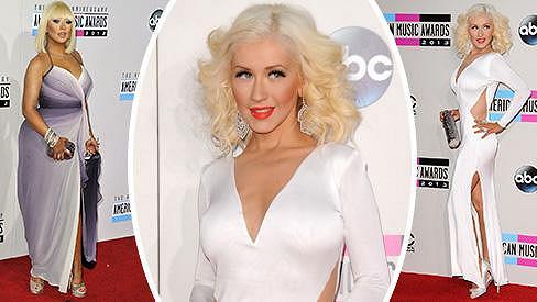 Christina Aguilera loni a dnes.