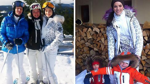Andrea Verešová si užívá lyžovačku nejen s dětmi, ale i svými kamarádkami.