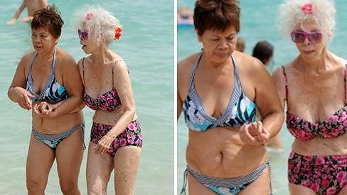 Vévodkyně z Alby s přítelkyní na Formenteře.