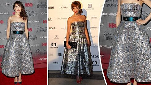 Slovenská a holandská herečka oblékly model od Diora.