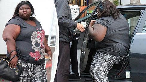 Gabourey Sidibe měla problém s nastupováním.