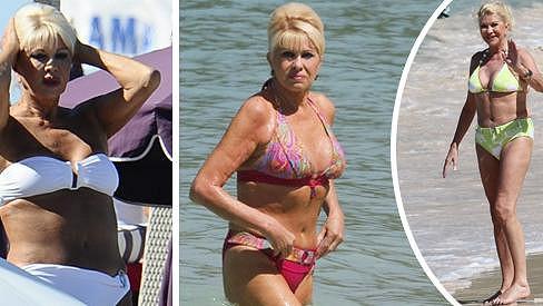 Bývalá modelka: Ivana Trump na snímcích z dob, kdy trávila bezstarostné chvíle na dovolených.
