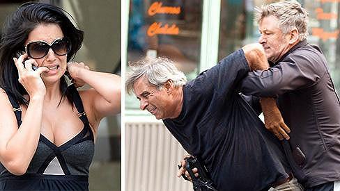 Alec Baldwin se zastal své manželky holýma rukama.