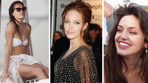 Zde je pravá Angelina pouze na jednom snímku.