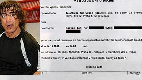 Majetek Sagvana Tofiho poslal soud do dražby.