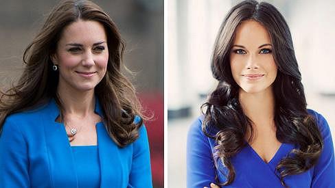 Sofia je Kate velmi podobná.