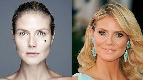 Heidi Klum předvedla svou nenalíčenou tvář.