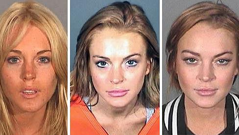 Lindsay Lohan na policejních snímcích.