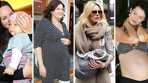 Které slavné dámy se loni staly maminkami?