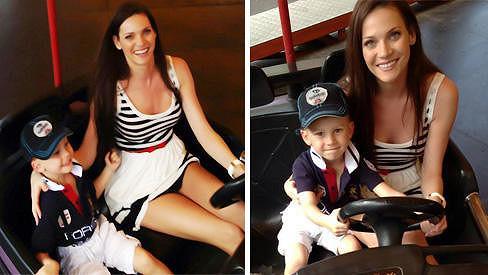 Andrea Verešová si užívala krásné chvilky se synem.