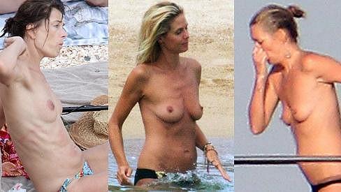 Pavlína Pořízková, Heidi Klum a Kate Moss.