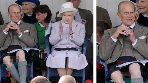Princ Philip zapomněl, že na sobě nemá kalhoty.