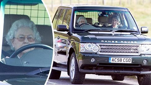 Kdo je ta babička za volantem? Alžběta II.!