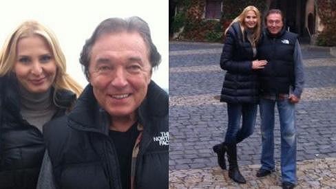 Karel s Ivanou na procházce podzimním Mělníkem.