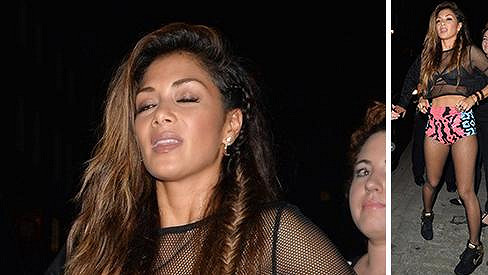 Nicole Scherzinger si noční život v Londýně užila dosyta.