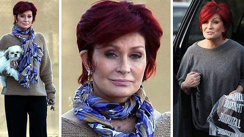 Sharon Osbourne před dietou (vpravo) a po ní.