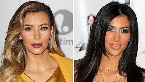 Kim Kardashian v rozmezí sedmi let
