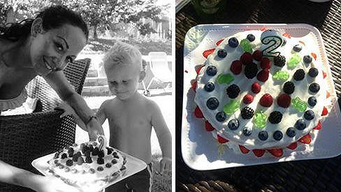 Kryšpín slavil narozeniny a dostal krásný dort.