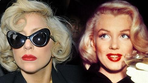 Lady Gaga se nápadně podobala Marilyn Monroe.