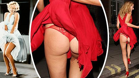 Kimberley Garner zavítala na výstavu o Marilyn Monroe ve velkém stylu...