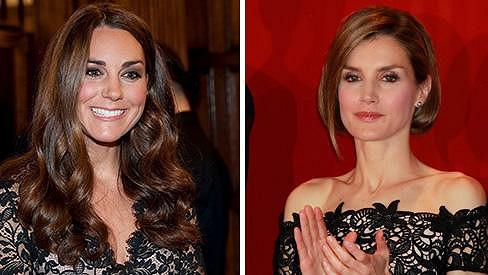Vévodkyně Kate a kněžna Letizia jsou krásné ženy.