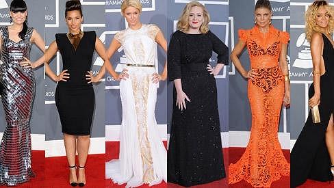 Těmto dámám to nejvíce slušelo na udílení cen Grammy 2012.