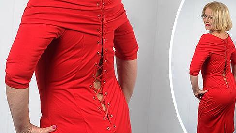Jitka musí zhubnout, aby oblékla šaty.