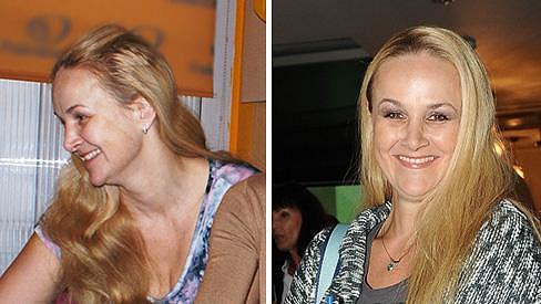 Linda Finková bez make-upu a s make-upem