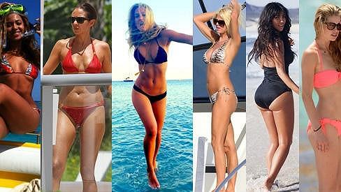 Zleva: Beyoncé, Olga Kurylenko, Bar Refaeli, Victoria Silvstedt, Kim Kardashian a Doutzen Kroes.