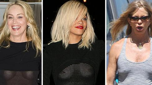 Sharon Stone, Rihanna a Goldie Hawn - dámy, které letos odhalily víc, než bylo záhodno.
