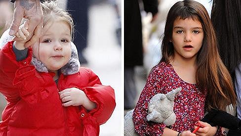 Harper Beckham a Suri Cruise - jedny z nejlépe oblékaných dítek světa.