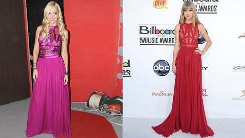 Dara a Taylor ve stejných šatech.