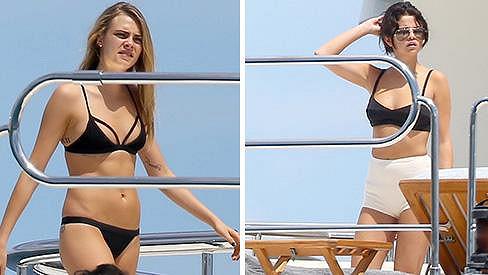 Selena Gomez strávila narozeniny i s kamarádkou Carou Delevingne.