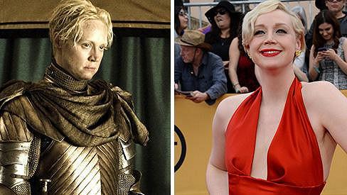 Dvě podoby herečky Gwendoline Christie