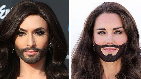 Conchita Wurst vs. vévodkyně z Cambridge
