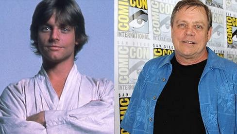 Mark Hamill jako Luke Skywalker a dnes.