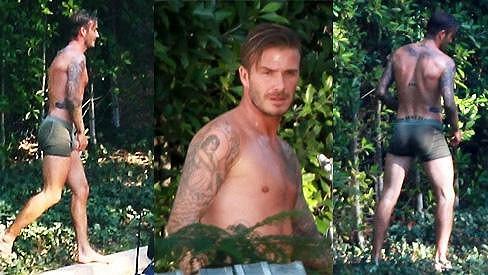 David Beckham natáčel reklamu pro známou módní značku.