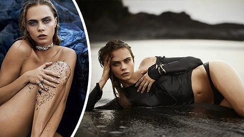 Cara Delevingne v sexy kampani na šperky