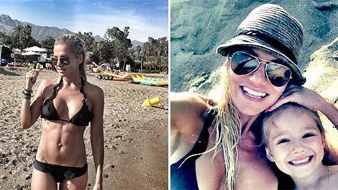 Dara Rolins na dovolené ve Španělsku