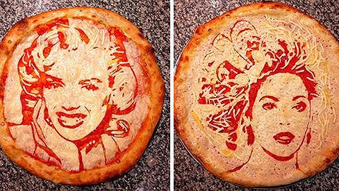 Do pizzy s Marilyn Monroe nebo Beyoncé je téměř hřích se zakousnout.