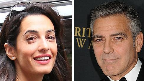 Clooney a jeho partnerka Amal Alamuddin