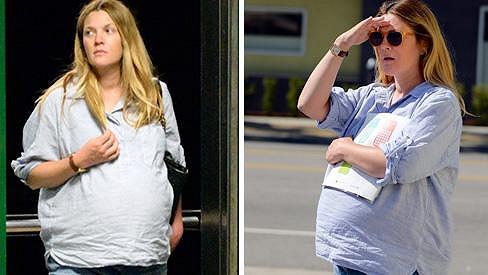 Porod Drew Barrymore se blíží.