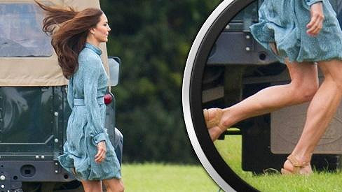 Princezna Kate má pořádně vypracovaná lýtka.