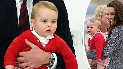 Princ George před odletem domů